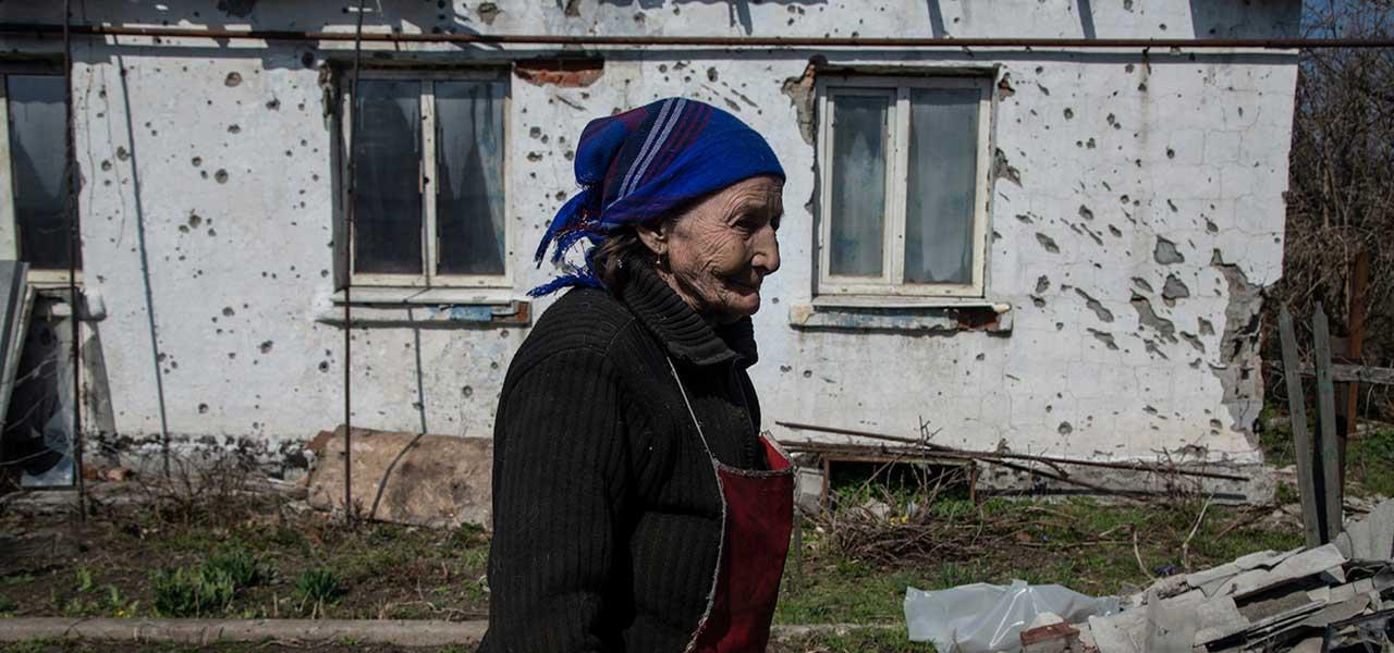 Ucrania: La abuela que jamás huyó